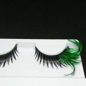 Black and Green Eye Lashes Feather Lashes